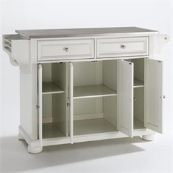 Crosley Furniture Alexandria Kitchen Island in White