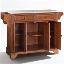 Crosley Furniture LaFayette Kitchen Island in Classic Cherry