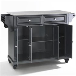 Crosley Furniture Cambridge Kitchen Island in Black