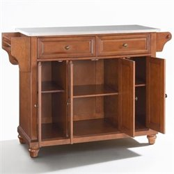 Crosley Furniture Cambridge Kitchen Island in Classic Cherry
