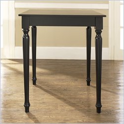 Crosley Furniture Turned Leg Pub/Dining Table in Black Finish