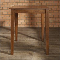 Crosley Furniture Tapered Leg Pub/Dining Table in Classic Cherry Finish