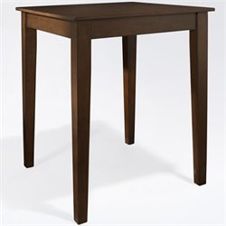 Crosley Furniture Tapered Leg Pub Table in Vintage Mahogany Finish