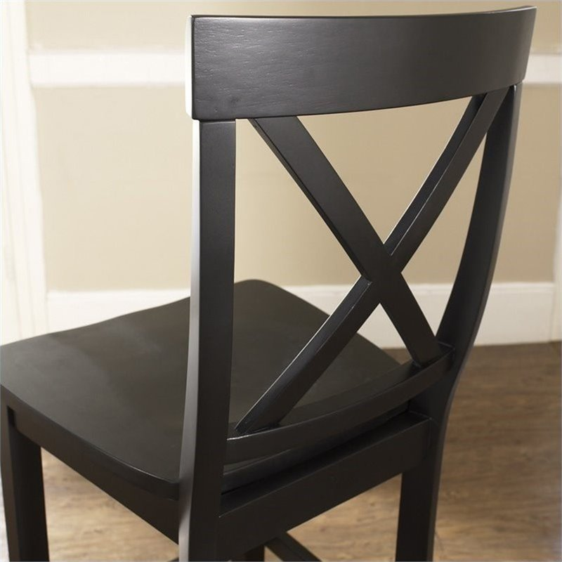 Crosley Furniture 24 Quot X Back Counter Stool In Black Set