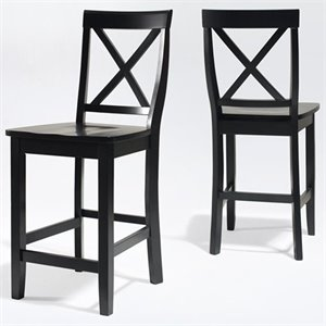 X-Back Bar Stool in Black