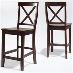 X-Back Bar Stool in Mahogany