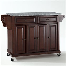 Crosley Furniture Solid Granite Top Mahogany Kitchen Cart