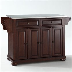 Crosley Furniture Alexandria Kitchen Island in Mahogany