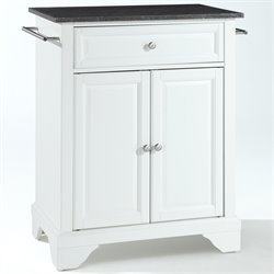 Crosley Furniture LaFayette Black Granite Top Kitchen Island in White