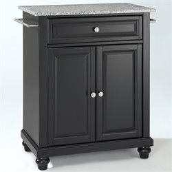 Crosley Furniture Cambridge Solid Granite Top Kitchen Island in Black