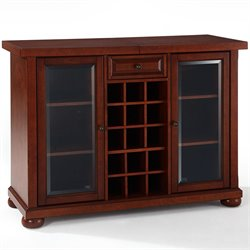 Crosley Alexandria Sliding Top Home Bar Cabinet in Vintage Mahogany
