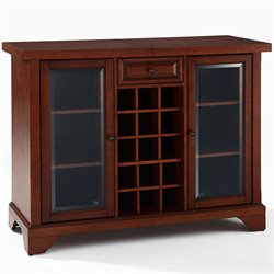 Crosley LaFayette Sliding Top Home Bar Cabinet in Vintage Mahogany