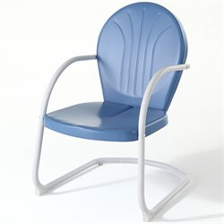 Crosley Griffith Metal Chair in Sky Blue