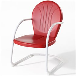 Crosley Griffith Metal Chair in Red