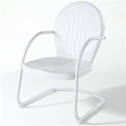 Crosley Griffith Metal Chair in White