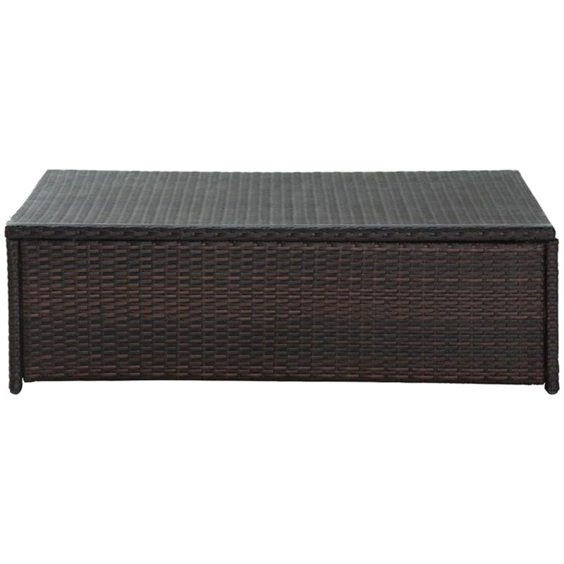 Crosley Palm Harbor Outdoor Wicker Glass Top Table