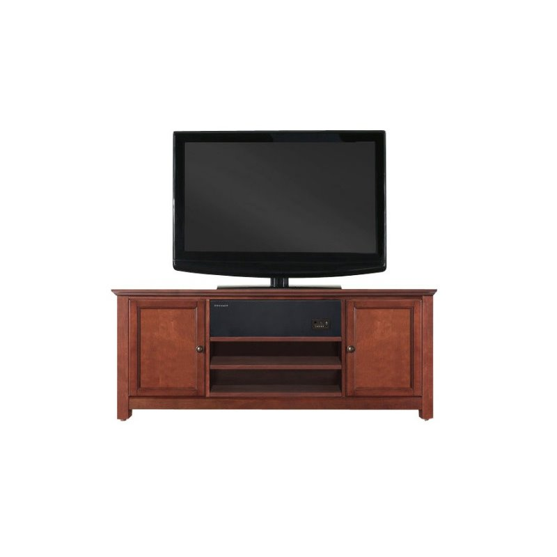 tv stand with sound bar in cherry kf1004asch. Black Bedroom Furniture Sets. Home Design Ideas