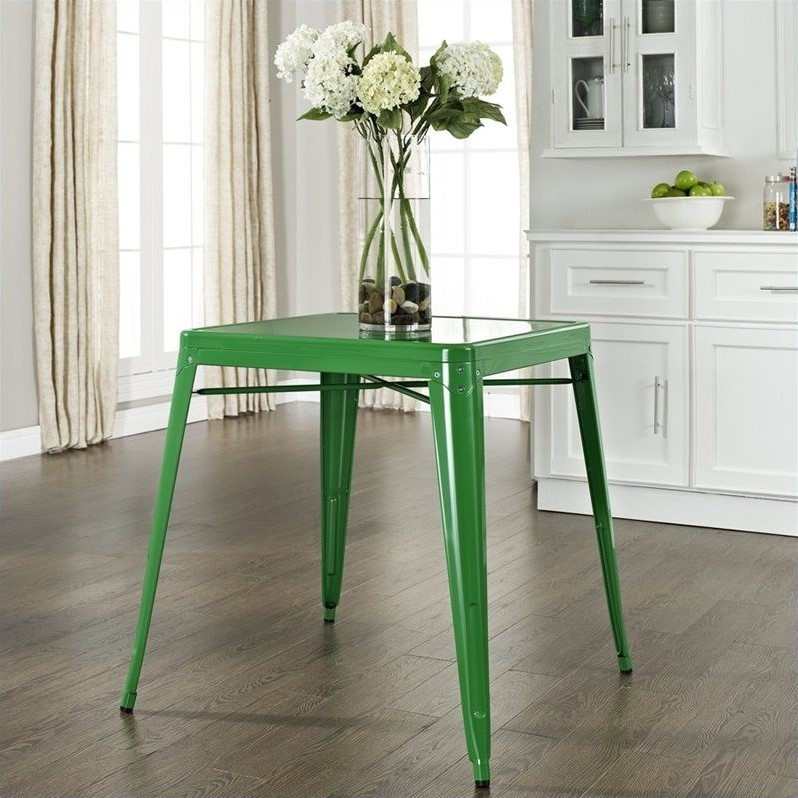 Crosley Furniture Amelia Metal Cafe Dining Table in Green