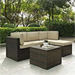 Crosley Furniture Palm Harbor 5 Piece Outdoor Wicker Seating Set