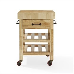 Crosley Marston Butcher Block Kitchen Cart in Natural