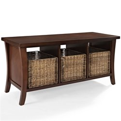 Crosley Wallis Entryway Storage Bench in Mahagony
