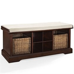 Crosley Brennan Entryway Storage Bench in Mahagony