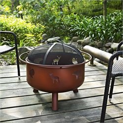 Crosley Durango Wildlife Firepit in Clay