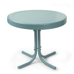 Crosley Retro Metal Table in Caribbean Blue