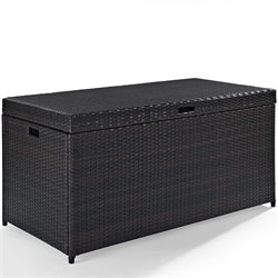 Crosley Palm Harbor Wicker Patio Deck Box