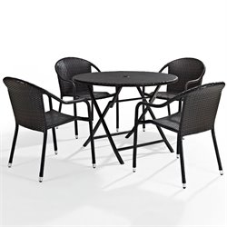 Crosley Furniture Palm Harbor 5 Piece Wicker Patio Dining Set