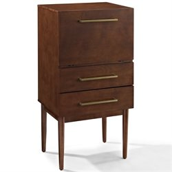 Crosley Everett Bar Cabinet in Mahogany