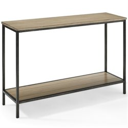 Crosley Brooke Console Table in Washed Oak