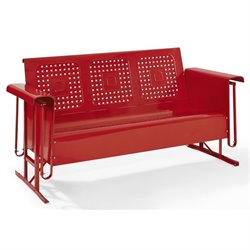 Crosley Bates Sofa Glider in Red