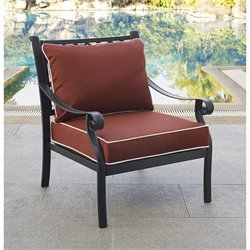 Crosley Portofino Cast Aluminum Arm Chair in Charcoal (Set of 2)