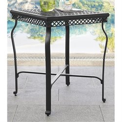 Crosley Portofino Cast Aluminum Bistro Table in Charcoal