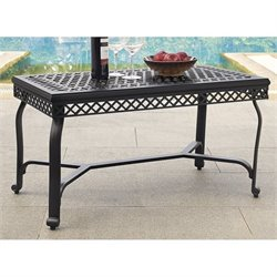Crosley Portofino Cast Aluminum Coffee Table in Charcoal