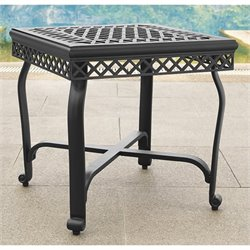 Crosley Portofino Cast Aluminum End Table in Charcoal