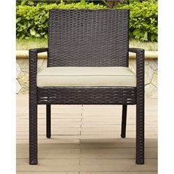 Crosley Palm Harbor Outdoor Wicker Dining Chair in Brown (Set of 2)