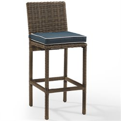 Bradenton Outdoor Wicker Bar Stool