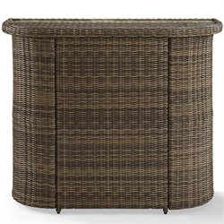 Crosley Bradenton Outdoor Wicker Bar in Brown