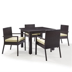 Crosley Palm Harbor Outdoor Wicker 5 Piece Dining Set