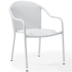 Crosley Palm Harbor Outdoor Wicker Chairs White (Set of 2)