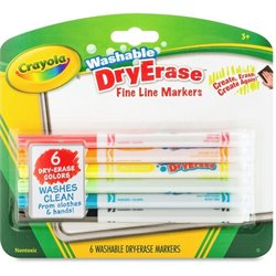 Crayola Fine Line Washable Dry Erase Markers (Set of 6)