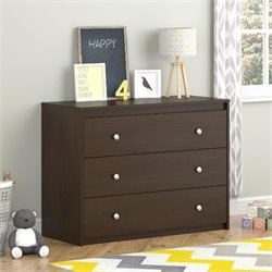 Ameriwood COSCO Elements 3 Drawer Dresser in Resort Cherry