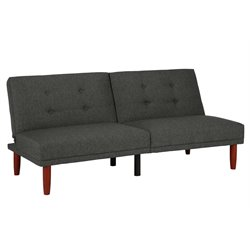 Bexley Tufted Convertible Sofa in Charcoal Gray with Tapered Legs