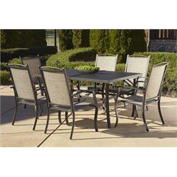 Cosco Outdoor Serene Ridge 7 Piece Aluminum Patio Dining Set