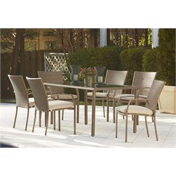 Lakewood Ranch 7 Piece  Steel Fully Woven Dining Set