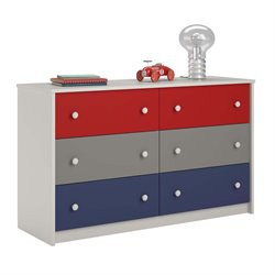 6 Drawer Kids Dresser in Classic