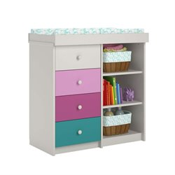 Ameriwood Cosco Kaleidoscope Changing Table in Whimsy