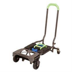 Cosco Shifter Multi-Position Folding Hand Truck and Cart in Silver